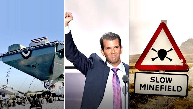 Flap over Donald Trump Jr's Plagarism Which Wasn't, 12B Ford Carrier and Pokémon Go on Minefields