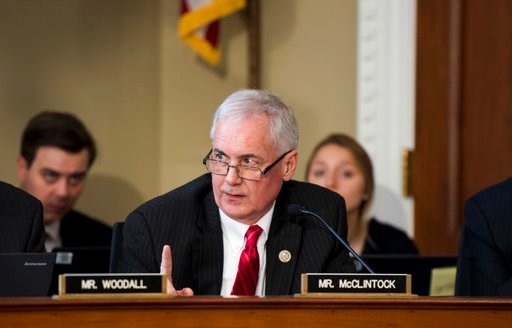 Rep. Tom McClintock, R-Calif., participates in House Budget Committee markup hearing on GOP health care reconciliation legislation March 16, 2017. (Photo By Bill Clark/CQ Roll Call) (CQ Roll Call via AP Images)
